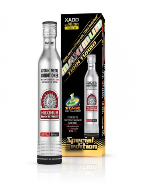 Atomic metal conditioner Maximum Twin Turbo with complex adaptive 1 Stage Revitalizant